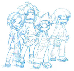 Naruto Chibi Sketches by Archer01