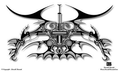 Tribal Robot by DarrellBurnett2