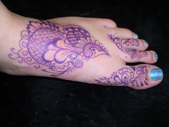 Sharpie Henna Foot 2 by katamoria