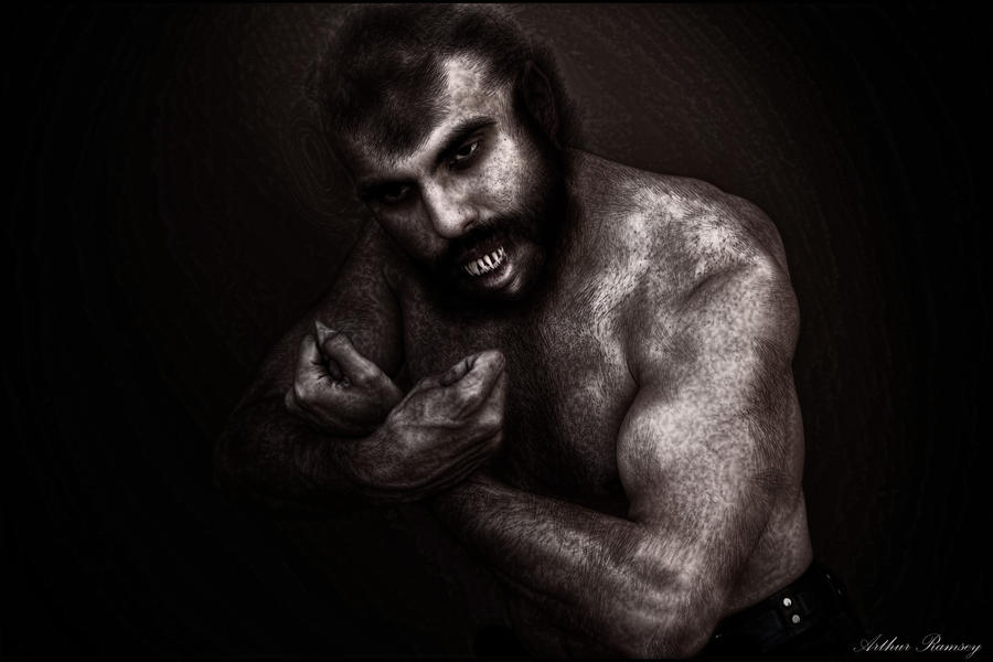 Portrait of a Werewolf Morphing 2014 by Arthur-Ramsey