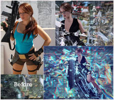 Before and After Lara of Legend Tomb Raider Game by Arthur-Ramsey