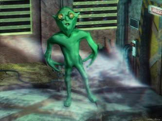 Alien Gumby X Marks the Spot by Arthur-Ramsey