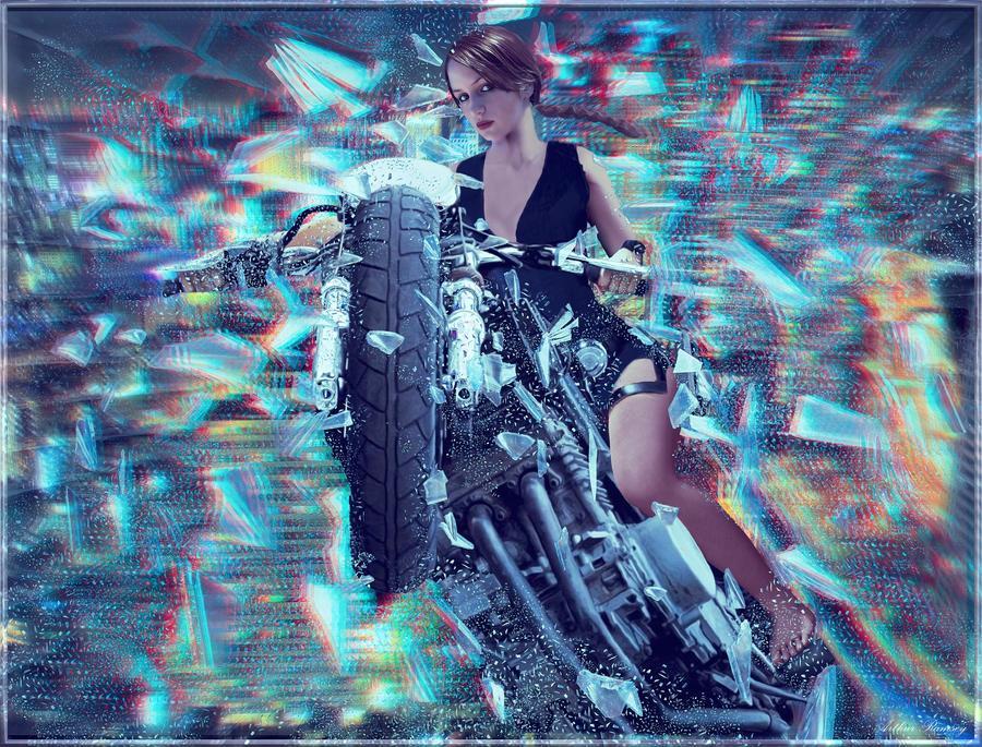 3D Biker Lara Croft by conservancy