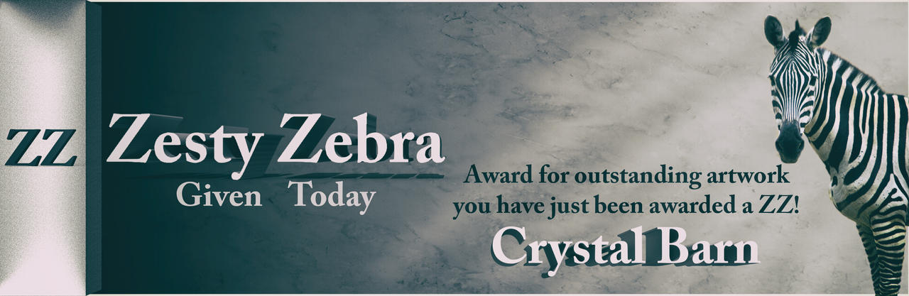 Zesty Zebra - Crystal Barn