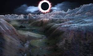 Badlands South Dakota Solar Eclipse by Arthur-Ramsey
