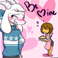 Be Mine - Asriel x frisk by sonadowkku