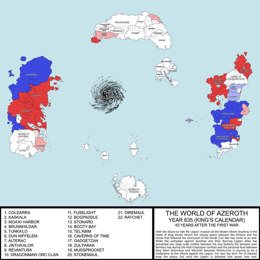 Azeroth Political Map by ART5EC on DeviantArt