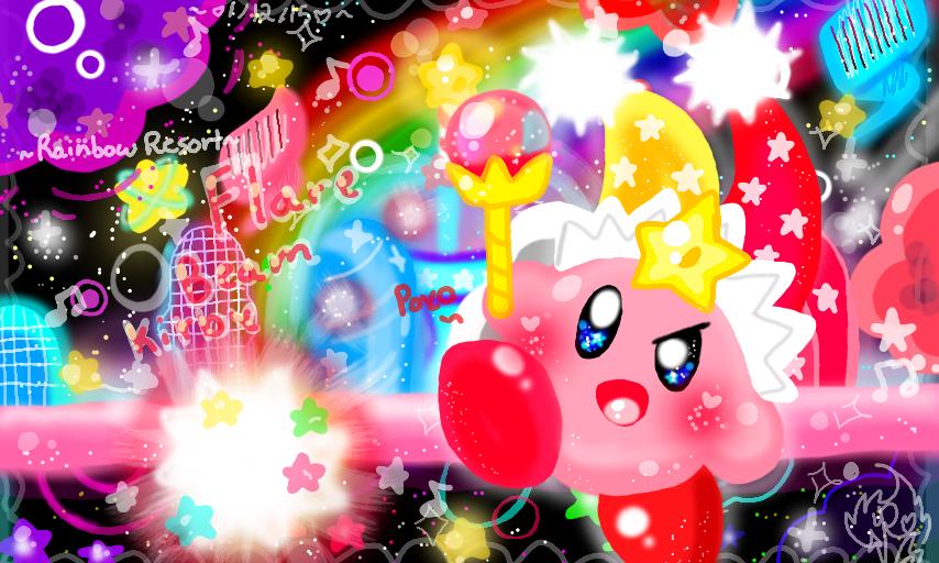 Rainbow Resort Flare Beam Kirby by DedenneLolitaArts98 on ...