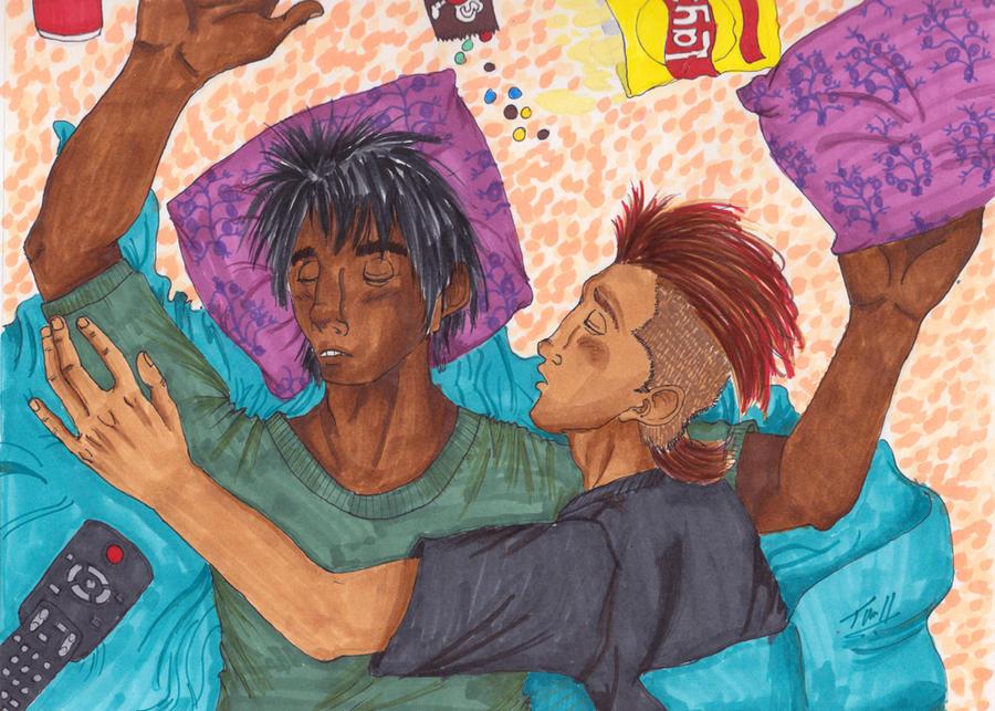 Tavros and Karkat: Sleepover. by Goofatron