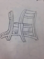 Chair from different perspectives by HashTagLetsGetWierd