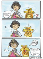 Knitting is not for Lorax by Bing-Klosby