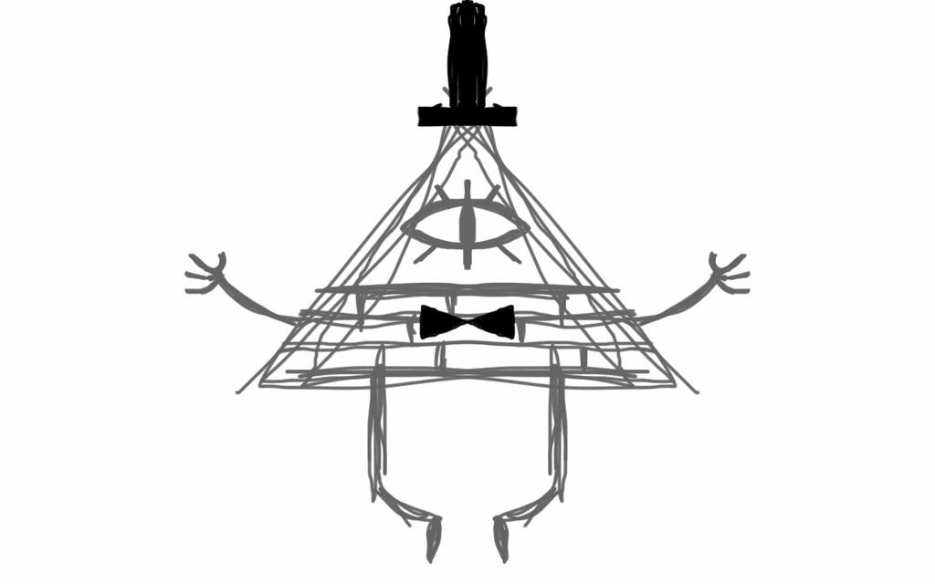 Bill Cipher digital sketch by lightxd94