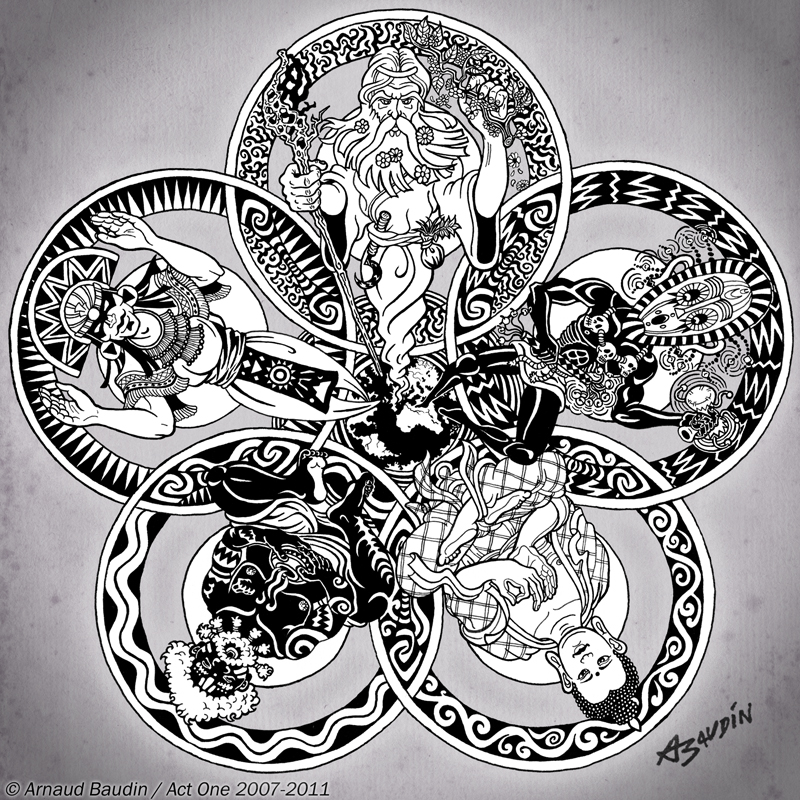 ANCESTRAL WISDOM -Mandala- by ArnaudBaudin