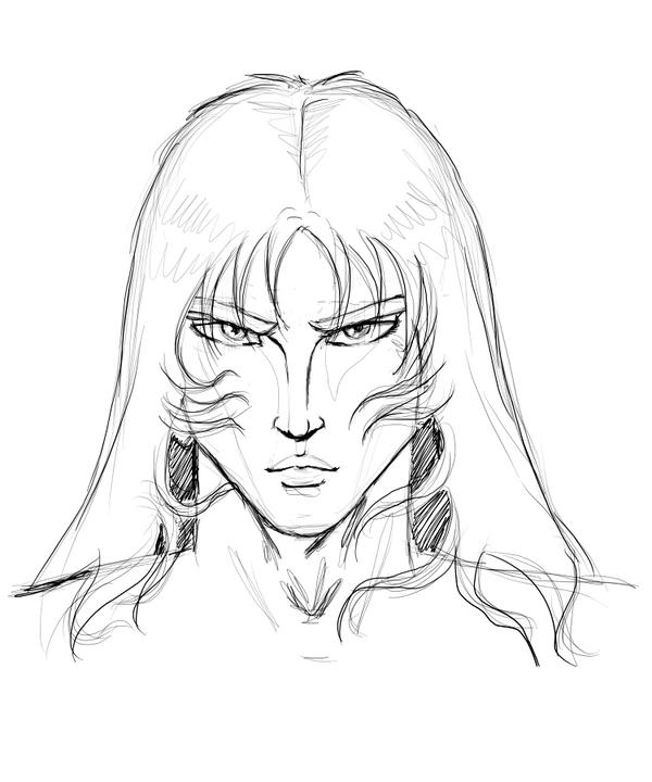 how to draw male manga face