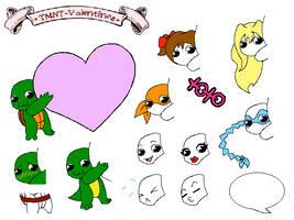 Chibi Heart Valentines Base by shiny-pebble