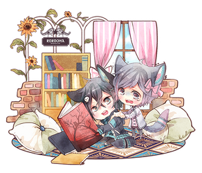 ::Comm:: Chibi Couple Commission 02 by Rurucha