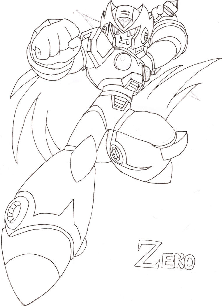 zero from megaman coloring pages image mag