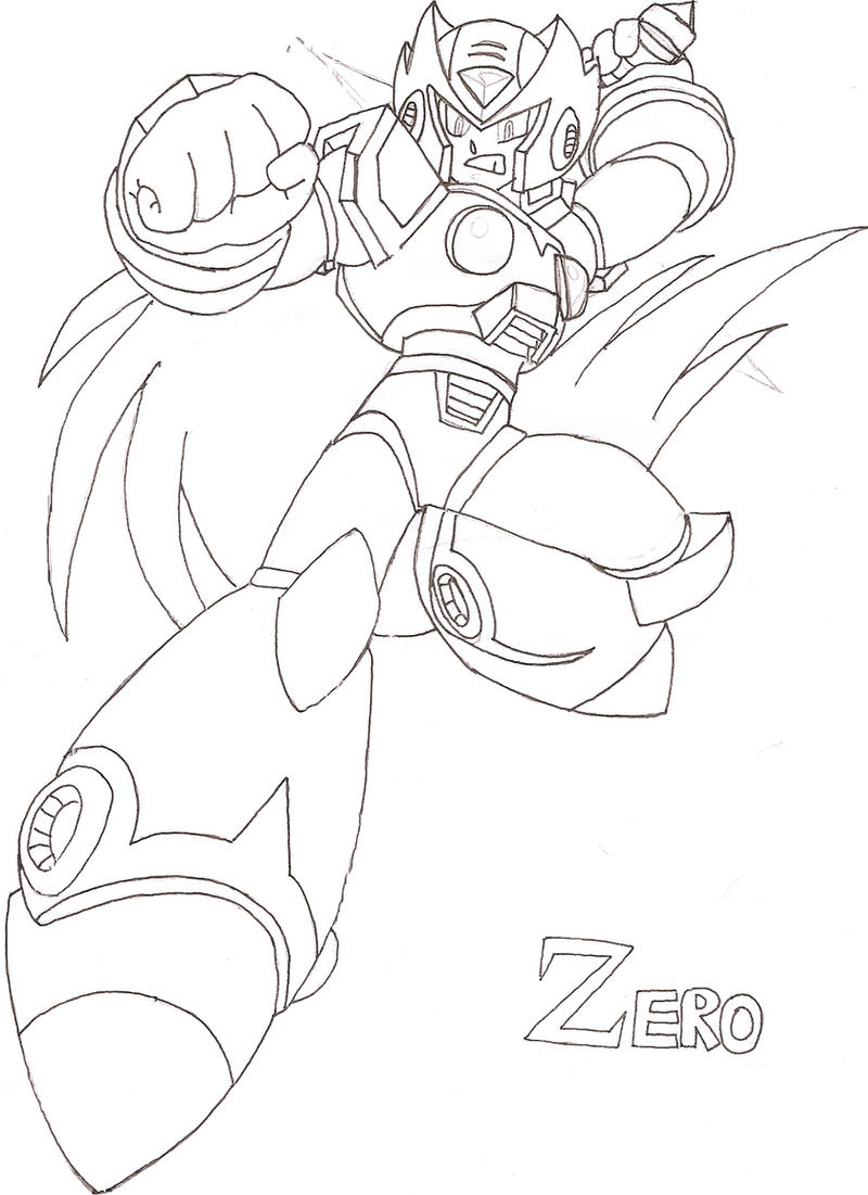 Megaman x coloring pages - Megaman Zero C