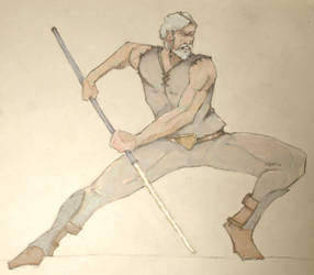 Echani warrior with pike Star Wars SWTOR