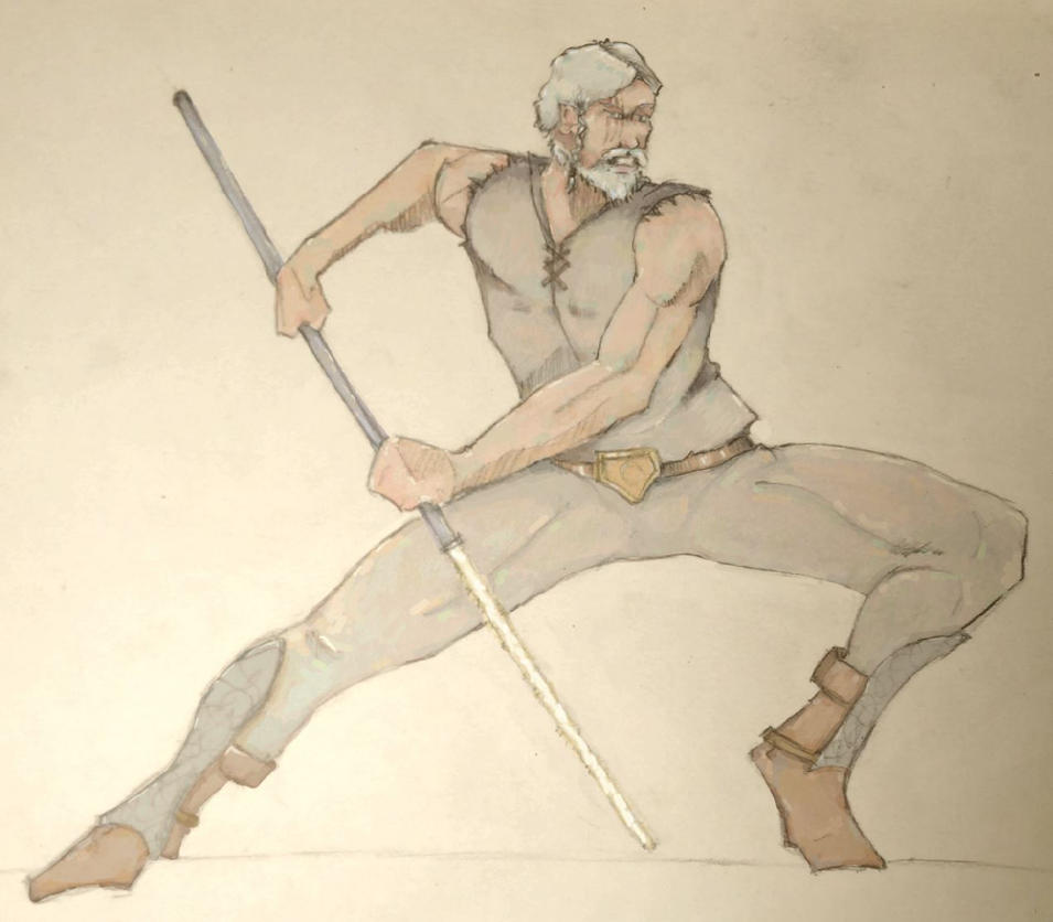 Echani warrior with pike Star Wars SWTOR by Natala00