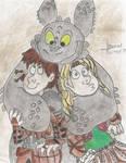 Toothless's hug by kawama-hermosa