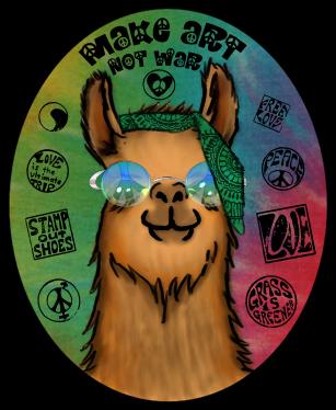 Hippie Llama by FreeSpiritFotography