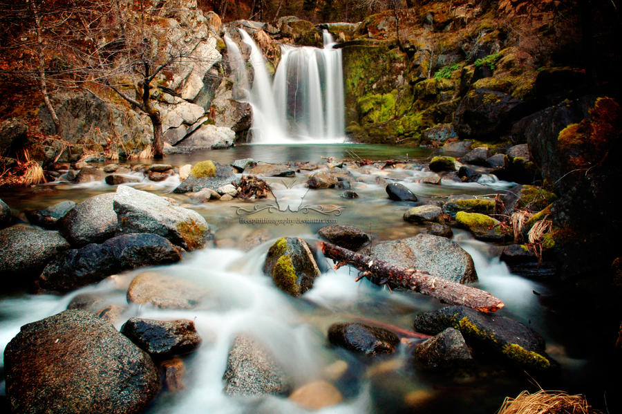 Crystal Creek Falls II by FreeSpiritFotography