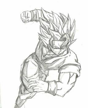 Scanned Super Saiyan Goku