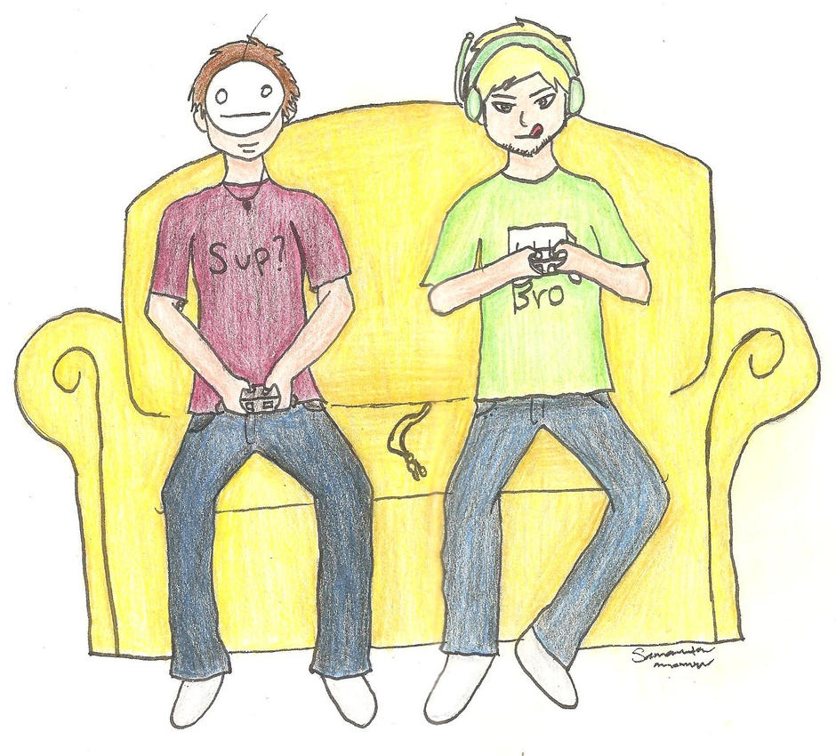Cry and PewDie by Azizica