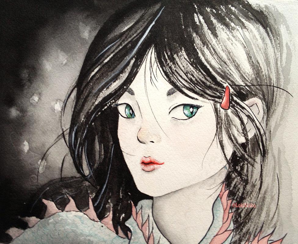 Dragongirl by lokineko
