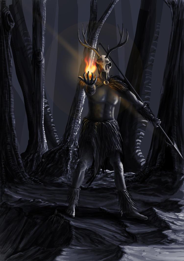 Hircine (Skyrim) by UncleHeinz