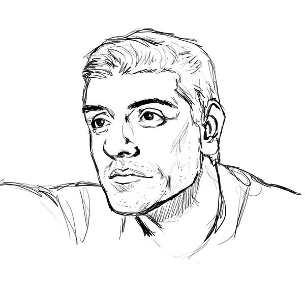 Oscar Isaac doodle by mossoak