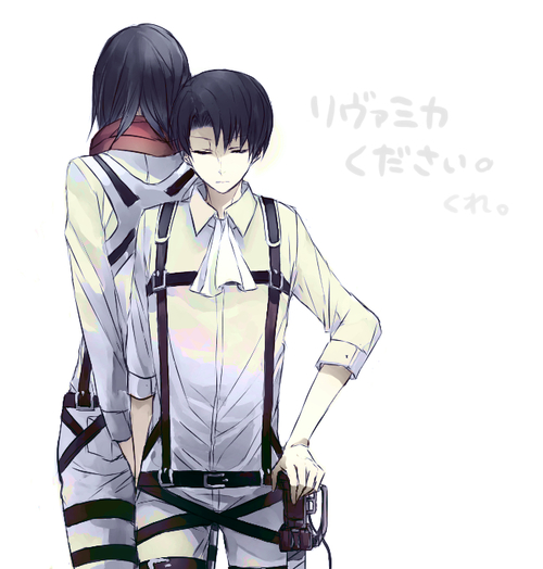 Levi x readerx male mikasa you are really short by aqemychan on