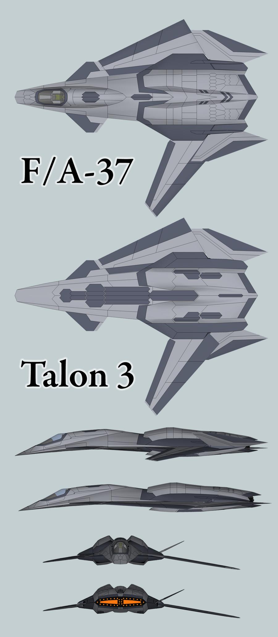 Stealth FA37 Talon ModellBausatz Fantastic Plastic