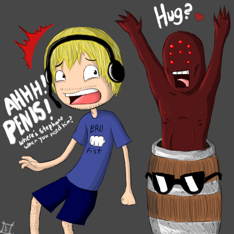 PewDiePie: Play Doom 3 they said   by Naruto1a2a3a on DeviantArt