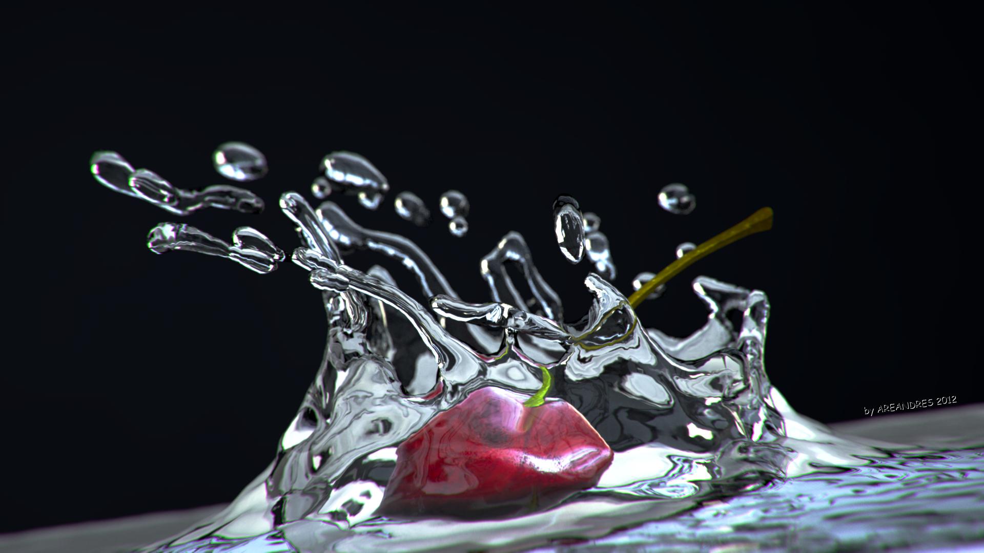 Cherry fluid wallpaper by areandres on deviantart - Fluid wallpaper ...