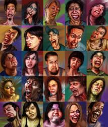 July's 60 minute Portrait Extravaganza by falsegodz