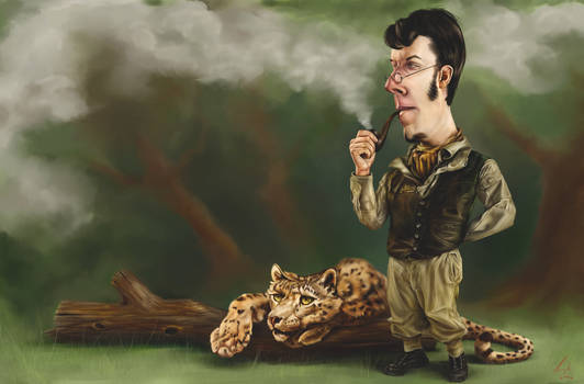Leopardo da Grinchy meets with Sherlock Stoned by falsegodz