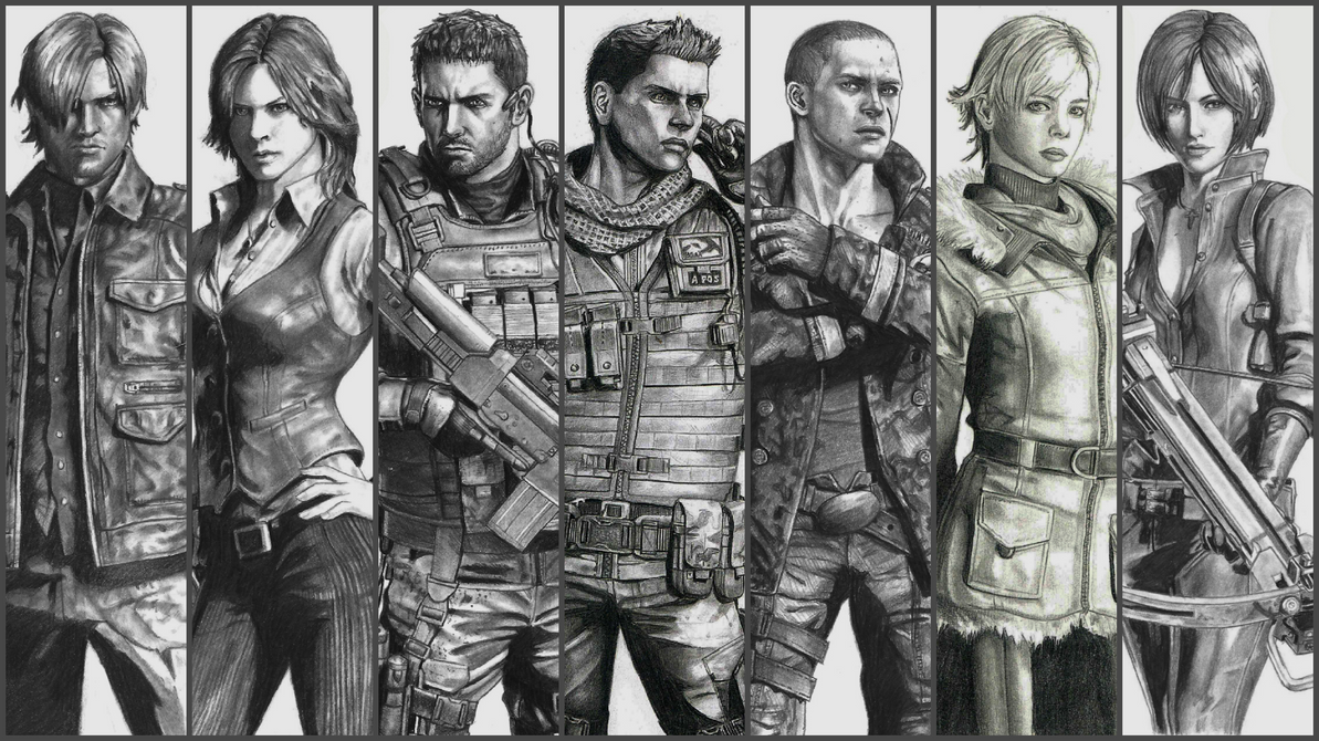 Resident Evil 6 Complete Characters By Zigartwork On Deviantart