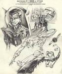 Comic art sample - 1988