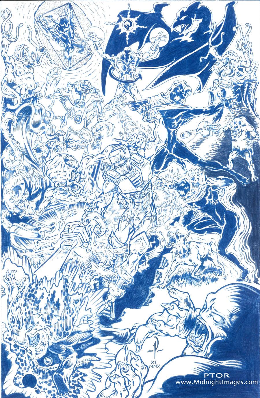ROM SPACEKNIGHT - blueline art