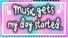 Music starts my day Stamp