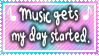 Music starts my day Stamp by SGStamps
