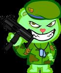 Flippy with gun