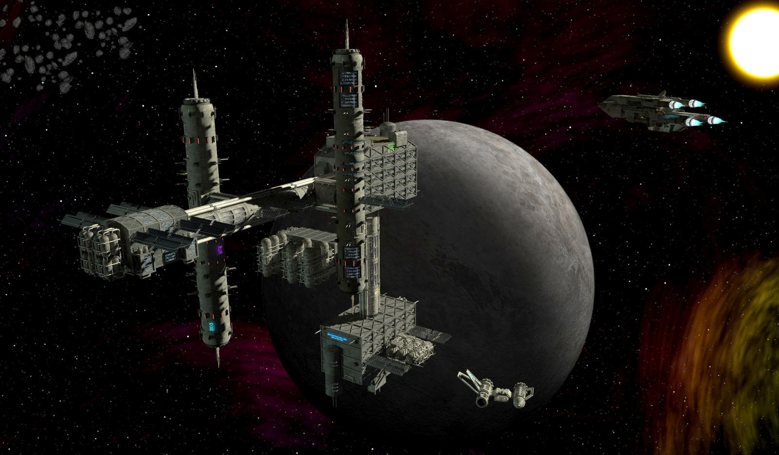 SpaceTech: Modular Space Outpost/Station Kit (II)I by 3-d ...