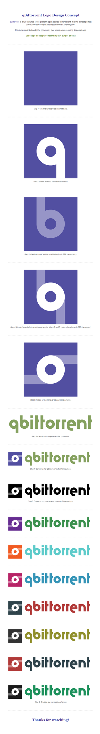 qBittorrent Logo Design Concept by monsteer