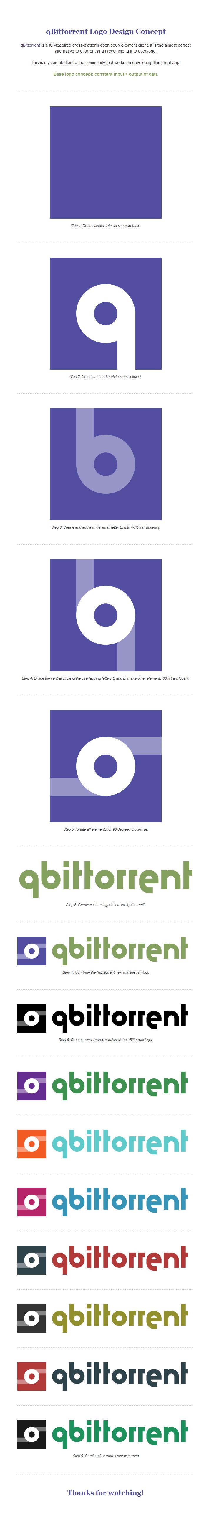 qBittorrent Logo Design Concept by monsteer