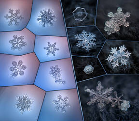 Snowflakes  2012 collage by ChaoticMind75