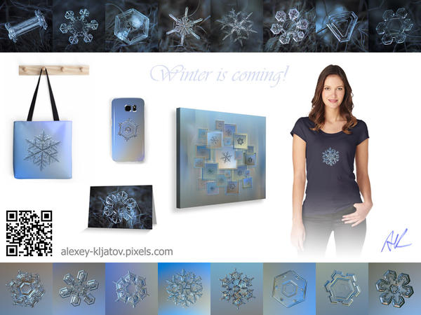 Snowflake prints available at artist website