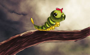 N.010 Caterpie by recycled-batteries